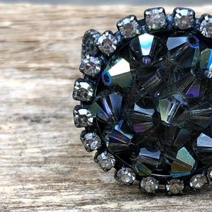 LIZ PALACIOS Bicone Crystal Bead {Adjustable Ring}